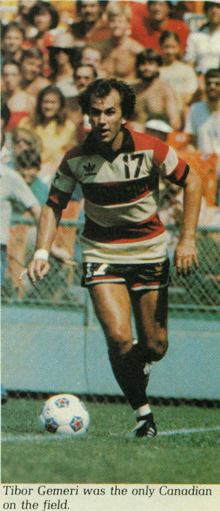 NASL Soccer Ft. Lauderdale Strikers 80 Road Tibor Gemeri, Soccer Bowl
