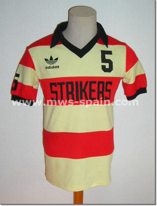 NASL Soccer Ft. Lauderdale Strikers 81 Road Jersey Elias Figueroa (2)