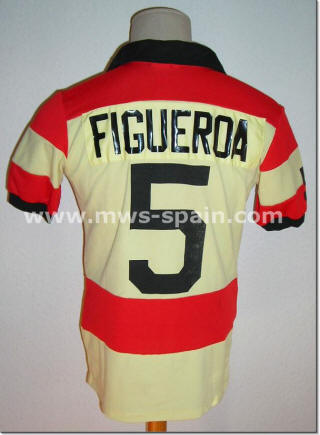NASL Soccer Ft. Lauderdale Strikers 81 Road Jersey Elias Figueroa Back
