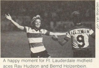 NASL Soccer Ft. Lauderdale Strikers 81-82 Road Bernd Holzenbein