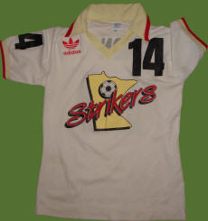 NASL Soccer Ft. Lauderdale Strikers 84 Home Jersey Gary Etherington