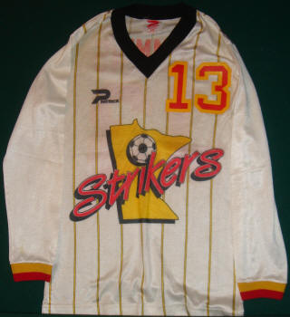 MISL Minnesota Strikers 1985-86 Road Jersey Stan Cummins