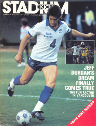 NASL Soccer Team America 83 Home Jeff Durgan
