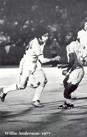 NASL Soccer Portland Timbers 77 Home Willie Anderson