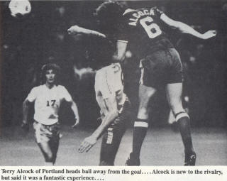 NASL Soccer Portland Timbers 77 Road Back Terry Alcock