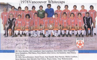 NASL Soccer Vancouver Whitecaps 78 Road Team