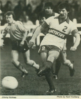 Vancouver Whitecaps 1981 Home Jimmy Holmes
